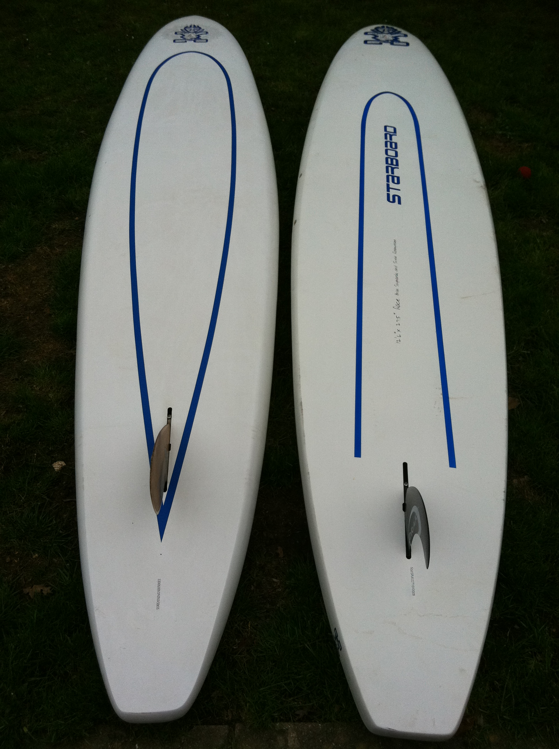 Starboard 12'6 x 26.5 Surf Race (2010) vs 12'6 x 27.5 Race (2011)