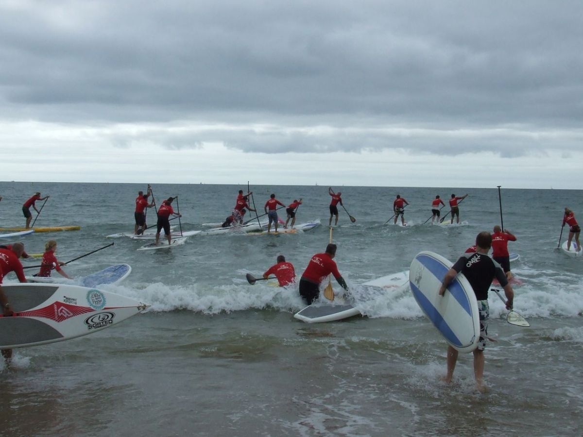 SUP Race - start line carnage