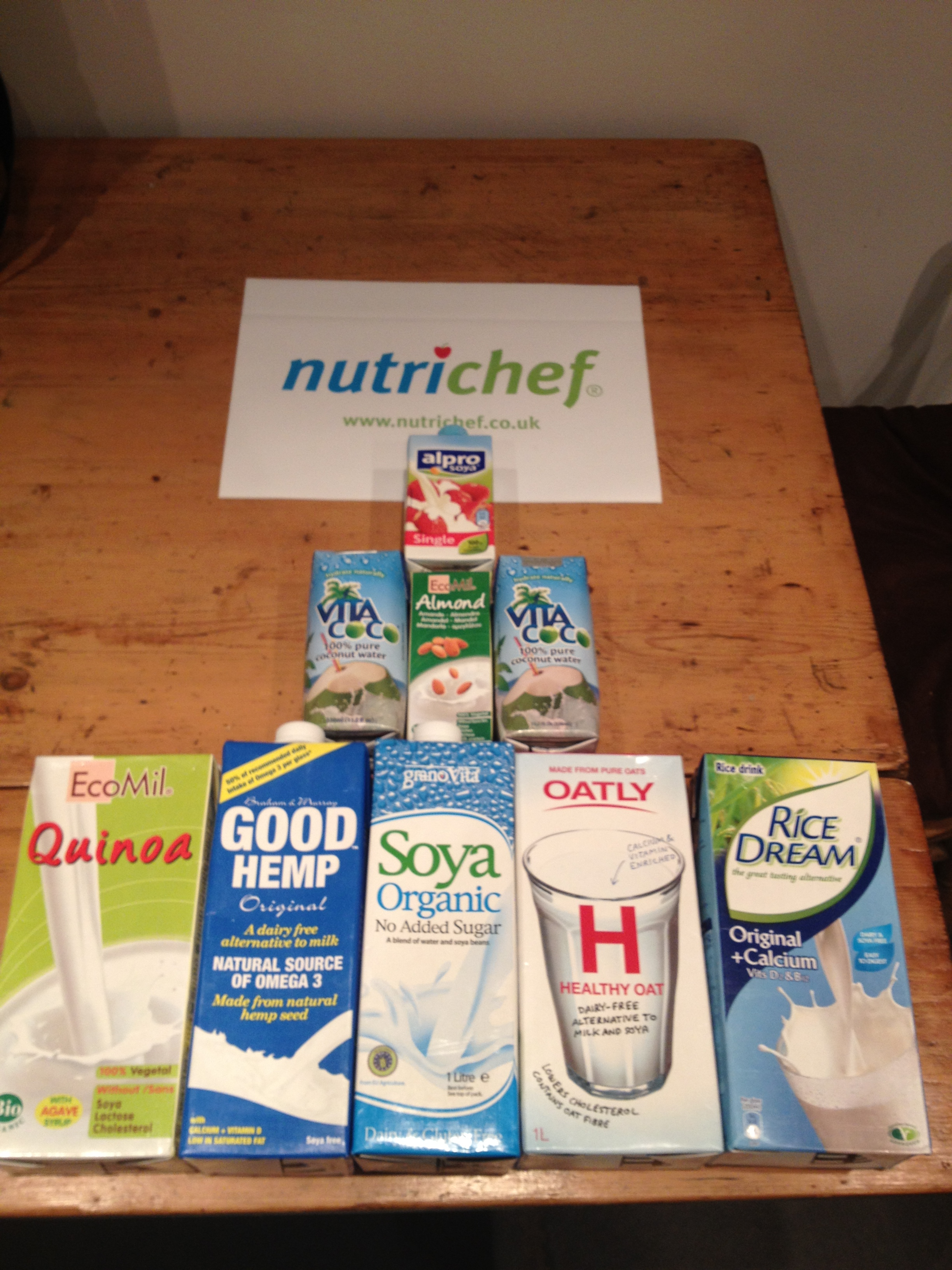 Milky, Milky... selection of non-dairy milks