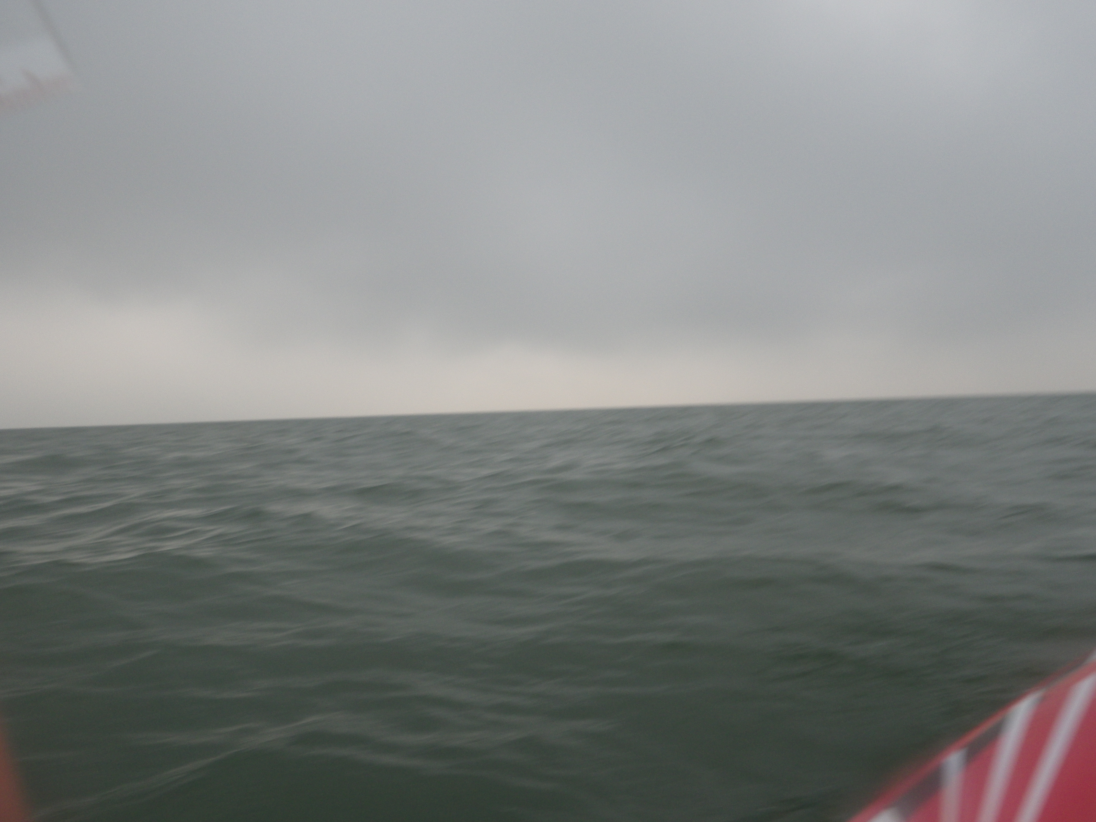 the Needles are there somewhere... we could hear the fog horn