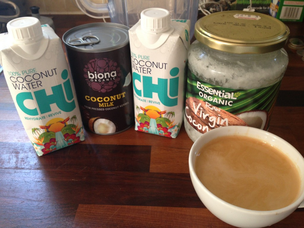 Coconut coffee frappe ingredients